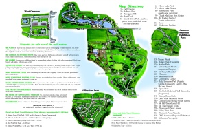 Parks Map. The Park is right next to campus.